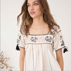 Ulla Johnson Lila embroidered blouse sz4
